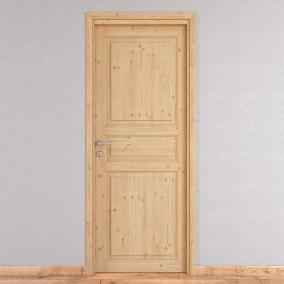 Porta da interno battente Beethoven grezza 60 x H 210 cm reversibile