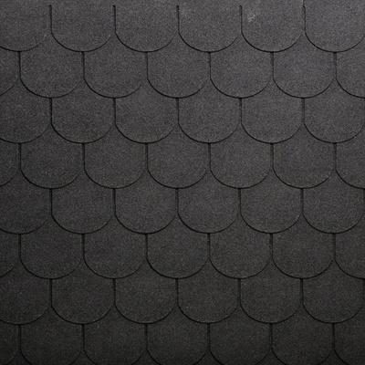 Tegole canadesi coda di castoro Onduline Bardoline Classic nero in bitume 100 x 34  cm, spessore 3 mm