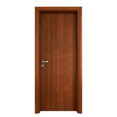 Porta da interno battente Mudek Noce Nazionale 90 x H 210 cm reversibile