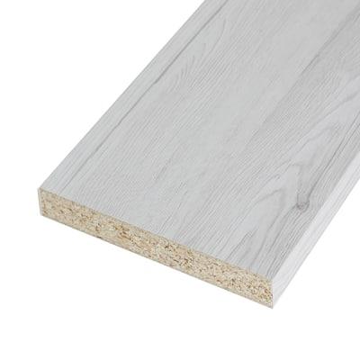 Pannello melaminico rovere bianco 25 x 300 x 2500 mm