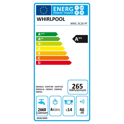 Lavastoviglie da incasso 8 programmi Whirlpool ADG7200