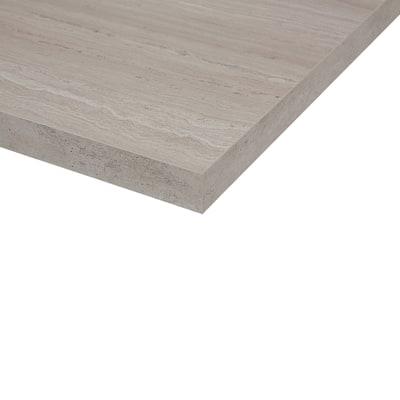 Piano cucina su misura laminato Travertino Romano grigio 4 cm
