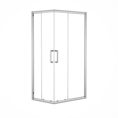 Box doccia scorrevole Quad 77.5-79 x 117,5-119, H 190 cm cristallo 6 mm trasparente/silver