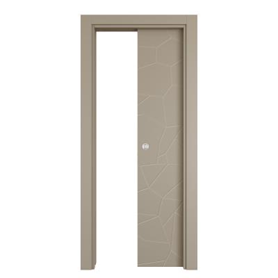 Porta da interno scorrevole The Thing gray grigio 80 x H 210 cm reversibile