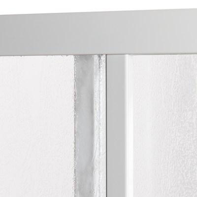 Box doccia scorrevole Elba 68-78 x 68-78, H 185 cm cristallo 3 mm piumato/bianco lucido