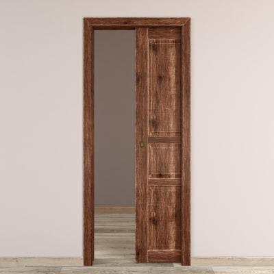 Porta da interno scorrevole Old Town noce sbiancato 70 x H 210 cm reversibile