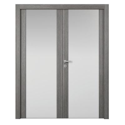 Porta da interno battente Starwood 2 Ante Pietra 160 x H 210 cm dx
