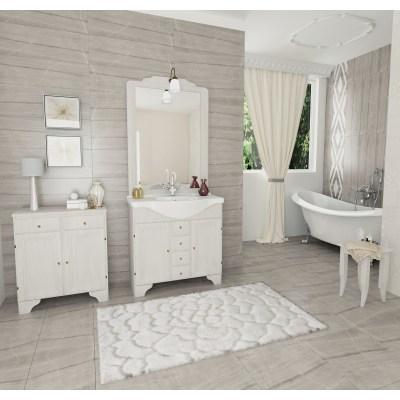 Specchio con faretto Laura bianco 80 x 113 cm