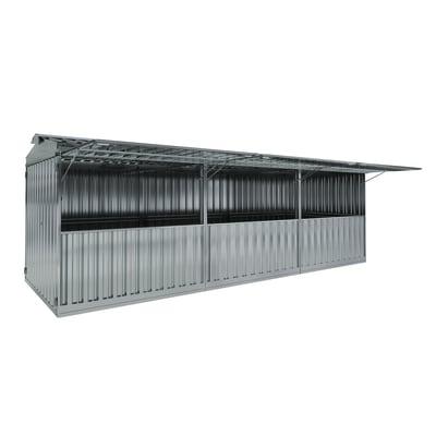 chiosco in metallo Daikiri 19,13 m², 3 ribalte