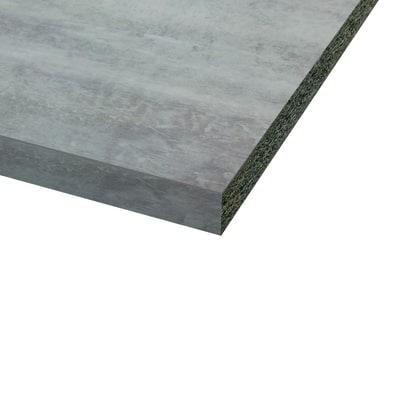 Piano cucina laminato Bute cemento 3.8 x 60 x 246 cm
