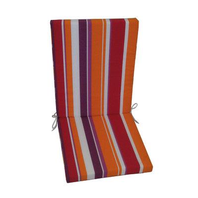 Cuscino schienale basso a righe 89 x 40 cm
