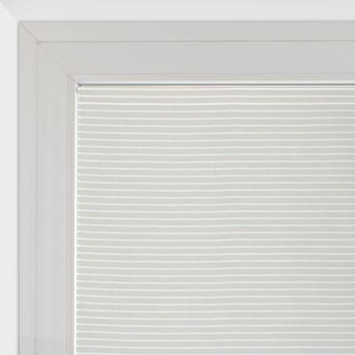 Tendina a vetro per finestra Milly bianco e beige 90 x 160 cm