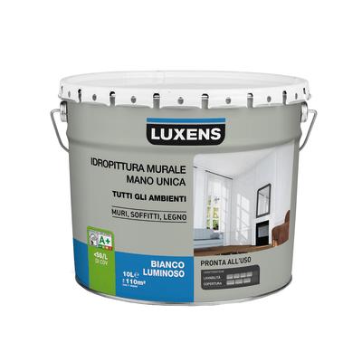 Idropittura lavabile bianca Luxens 10 L