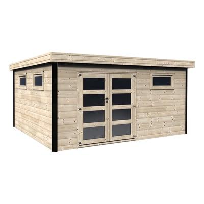 casetta in legno grezzo Evelin 16,83 m², spessore 28 mm