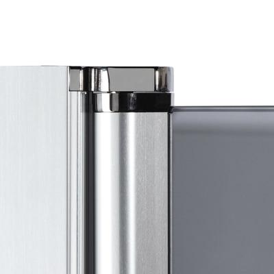 Doccia con porta battente e lato fisso Neo 81 - 83 x 77 - 79 cm, H 200 cm vetro temperato 6 mm bianco opaco