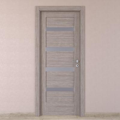 Porta da interno battente Capena 5 sabbia 80 x H 210 cm sx