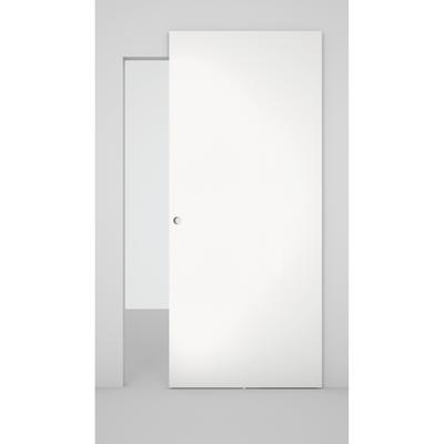 Porta da interno scorrevole Space binario nascosto laminato bianco 101 x H 230 cm sx