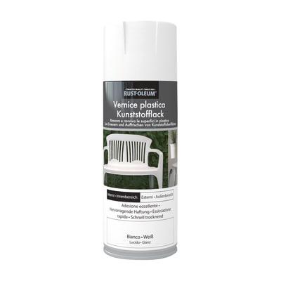 Smalto spray Rustolium per plastica bianco brillante 400 ml