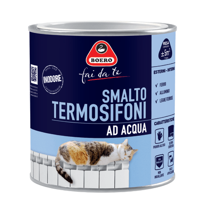 Smalto Smalto per termosifoni Boero Bianco satinato 0,5 L