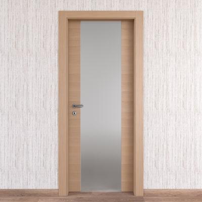 Porta da interno battente Sheraton rovere naturale 90 x H 210 cm dx