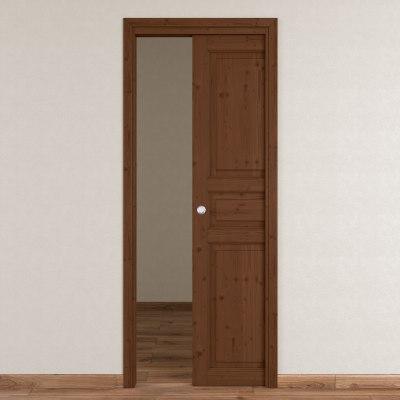 Porta da interno scorrevole Beethoven brown chocolate 80 x H 210 cm reversibile