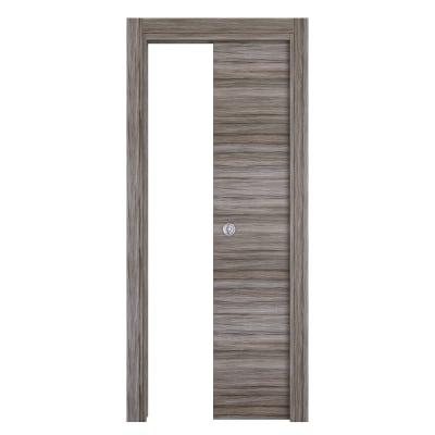 Porta da interno scorrevole Cover palissandro grigio 70 x H 210 cm reversibile