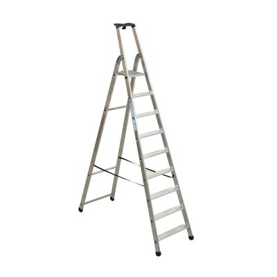 Scala doppia alluminio Facal 9 gradini, per lavori fino a 3,8 m