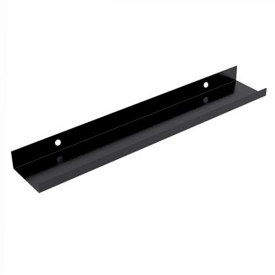 Mensola con spondina frontale nero L 60 x P 10, sp 4 cm