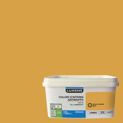 Idropittura lavabile Antimuffa Giallo Solare 1 - 2,5 L Luxens