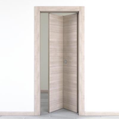 Porta da interno pieghevole Resort larice ghiaccio 70 x H 210 cm dx