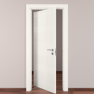Porta da interno rototraslante Fence bianco 80 x H 210 cm sx
