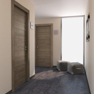 Porta per hotel battente Radisson tabacco 60 x H 210 cm sx