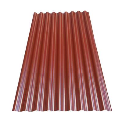 Lastra ondulata rossa in acciaio 106 x 180  cm, spessore 0,5 mm