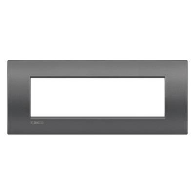 Placca 7 moduli BTicino Livinglight Air grigio