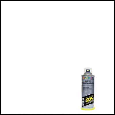 Smalto spray Supertrasparente 2K trasparente brillante 160 ml