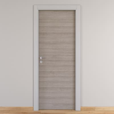 Porta da interno battente One grigio/white 60 x H 210 cm reversibile