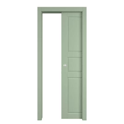 Porta da interno scorrevole New York verde 70 x H 210 cm reversibile