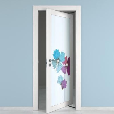 Porta da interno rototraslante Eden larice bianco 80 x H 210 cm dx