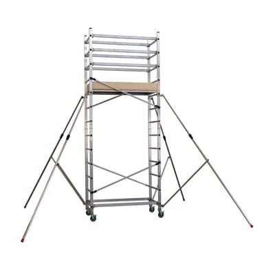 Base trabattello Facal Alto in alluminio, per lavori fino a 4,8 m