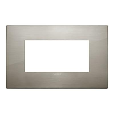 Placca 4 moduli Vimar Arké acciaio spazzolato