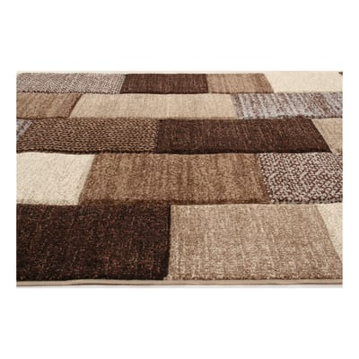 Tappeto textures beige marrone 160 x 230 cm prezzi e for Leroy merlin tappeti