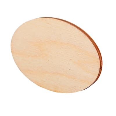 Sagoma Ovale paulownia chiaro 7 x 5 cm