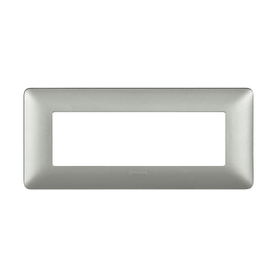 Placca 6 moduli BTicino Matix silver