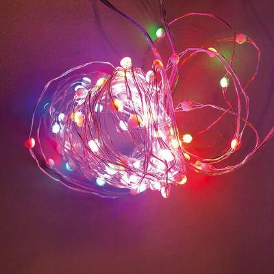 Catena luminosa 200 minilucciole Led multicolore 20 m