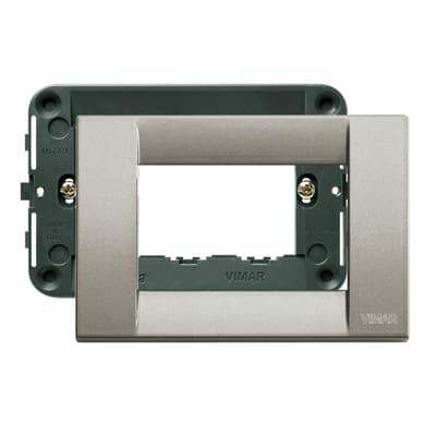 Placca 3 moduli Vimar Idea titanio