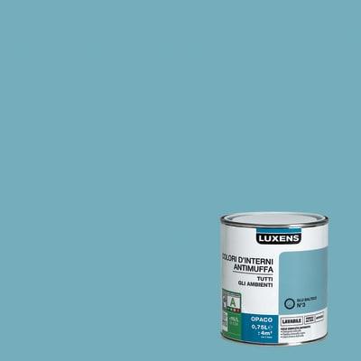 Idropittura lavabile Antimuffa Blu Baltico 3 - 0,75 L Luxens