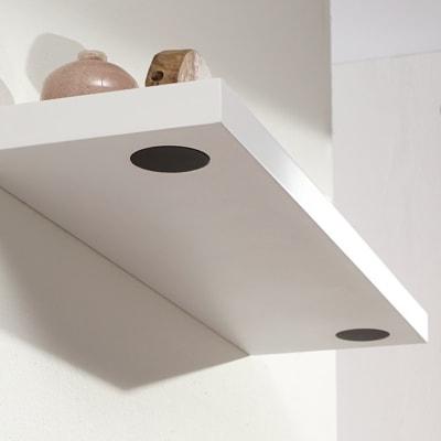 Mensola con speakers bianco L 80 x P 23,5, sp 3,8 cm