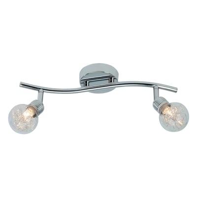 Barra a 2 luci Bulb cromo