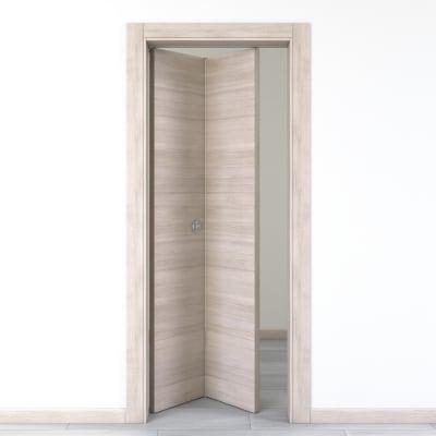 Porta da interno pieghevole Resort larice ghiaccio 80 x H 210 cm sx
