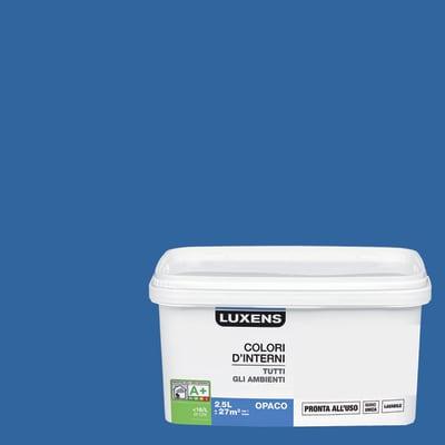 Idropittura lavabile Mano unica Blu Blu 2 - 2,5 L Luxens